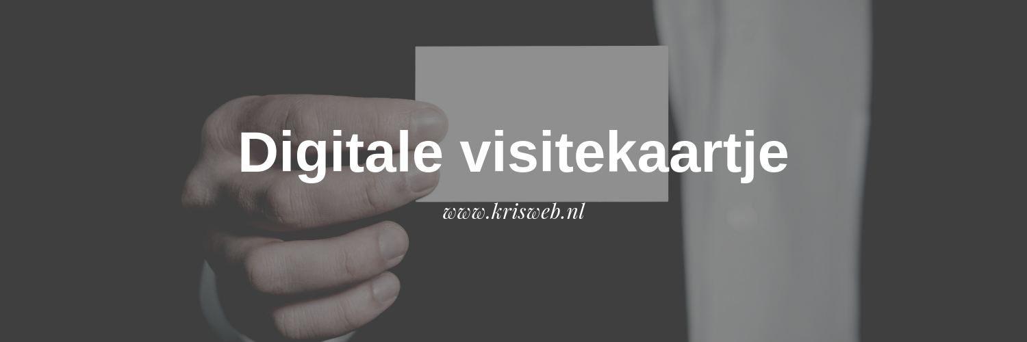 Digitale visitekaartje
